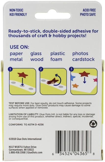 """Glue Dots .5"""" Craft Dot Roll-200 Clear Dots -GD08165"""