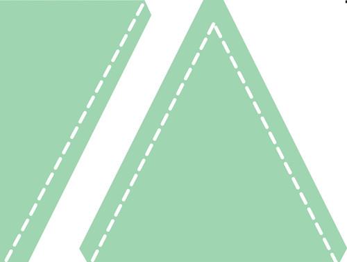 """Sizzix Bigz Dies Fabi Edition-L Die Triangles-Isosceles & Right 4.5"""" -657622"""