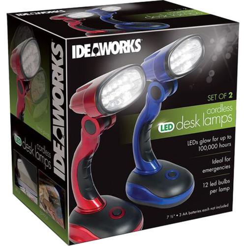 Frank A. Edmunds LED Desk Lamps-Red And Blue -JB6173