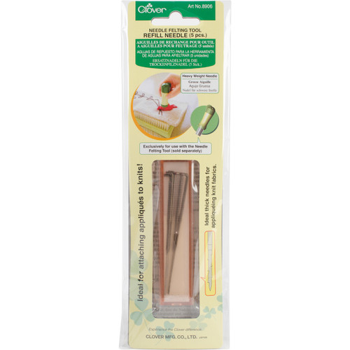 Clover Felting Needle Tool Refill Heavy Weight 5/Pkg-8906 - 051221557347