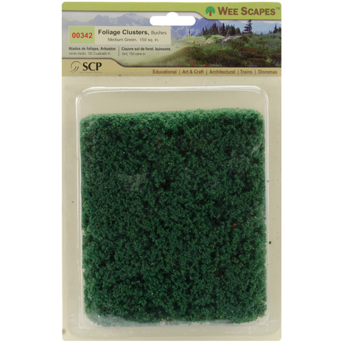 Bushes 150 Square Inches-Medium Green -00342 - 853412003424