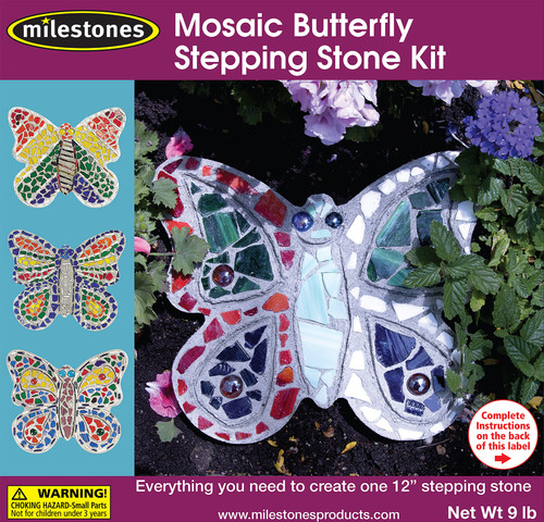 Mosaic Stepping Stone Kit-Butterfly -90111276 - 601950112760