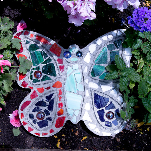 Mosaic Stepping Stone Kit-Butterfly -90111276
