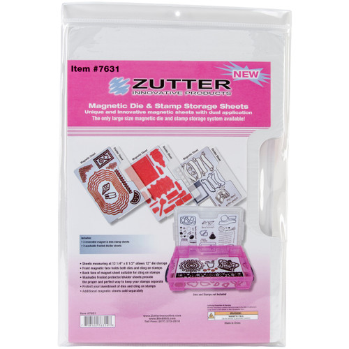 "Zutter Magnetic Die & Stamp Storage Refill Sheets 3/Pkg-12.25""X8.5"" -7631 - 718122763146"