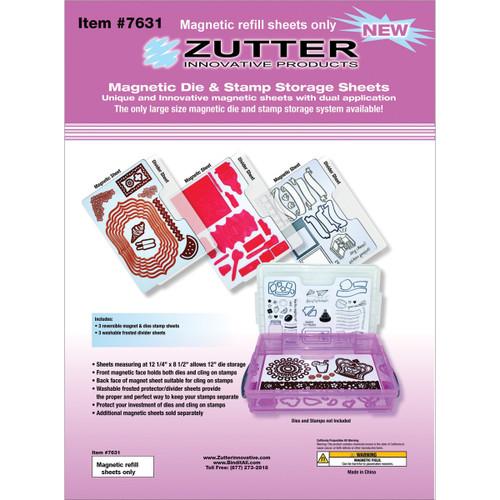 "Zutter Magnetic Die & Stamp Storage Refill Sheets 3/Pkg-12.25""X8.5"" -7631"
