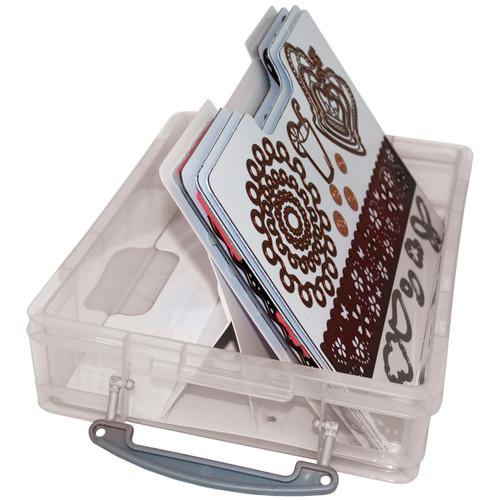 """Zutter Magnetic Die & Stamp Storage Case-14.5""""X10.25""""X3.75"""" Clear -7630 - 718122763047"""