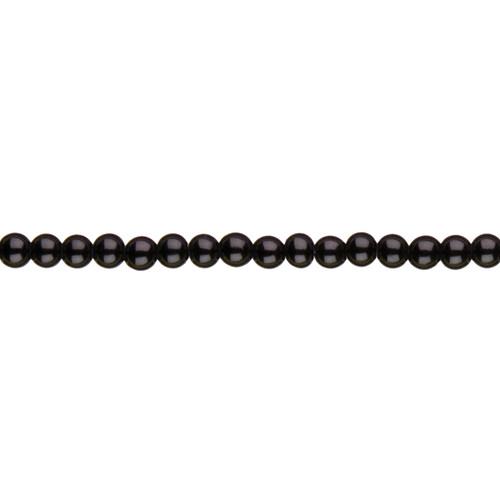 Jewelry Basics Glass Beads 4mm 300/Pkg-Black Opaque Round -34713002