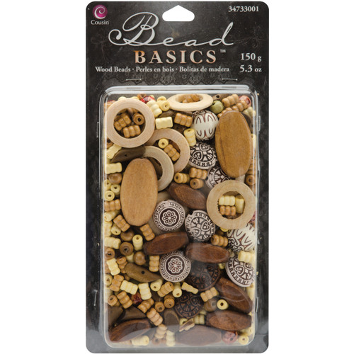 Jewelry Basics Wood Beads 5.3oz-#1 -34733001 - 016321082274