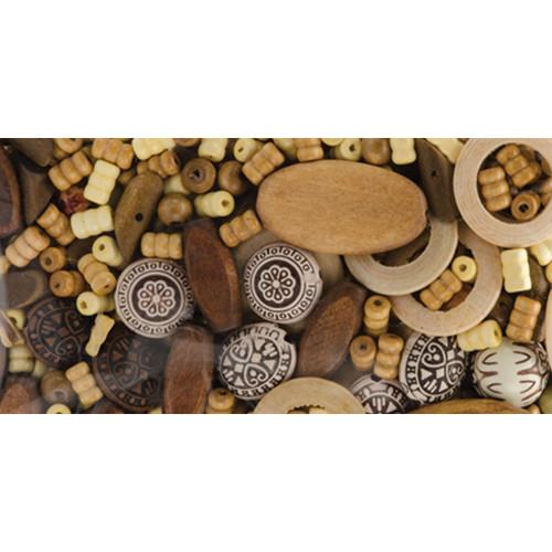 Jewelry Basics Wood Beads 5.3oz-#1 -34733001
