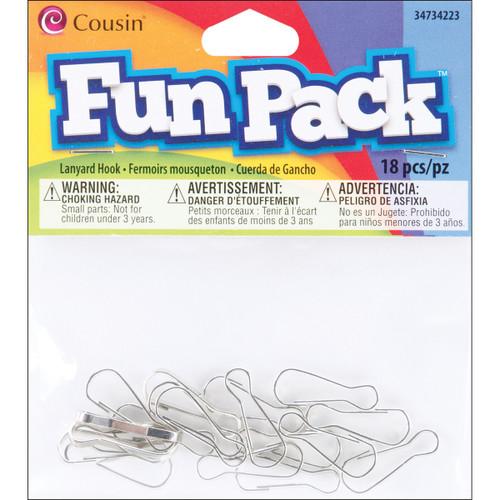 Fun Pack Lanyard Hooks 18/Pkg-Silver -34734223 - 016321083394