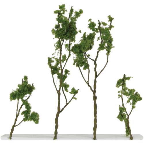 """Wire Foliage Trees 1.5"""" To 3"""" 24/Pkg-Light Green -00308"""