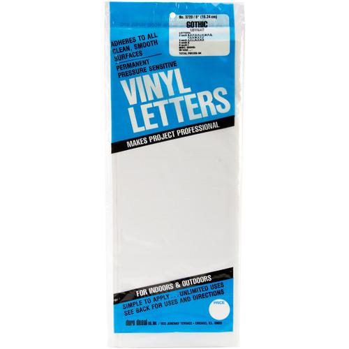 "Permanent Adhesive Vinyl Letters 6"" 94/Pkg-White -D3220-WHITE - 029211322022"