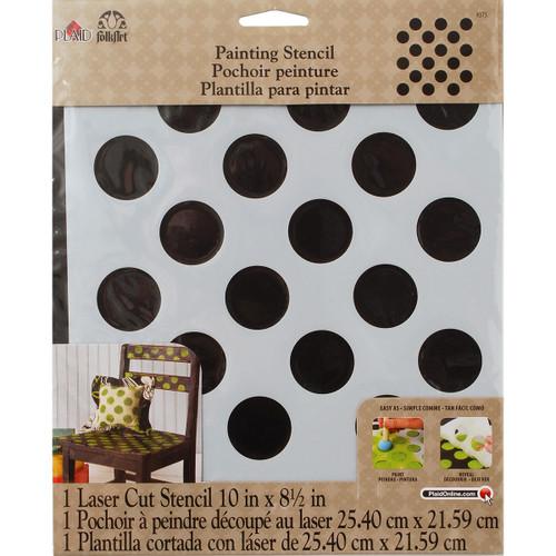 """FolkArt Painting Stencil 8.5""""X10""""-Polka Dot -FAPS-4375 - 028995043758"""