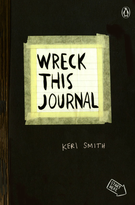"""Wreck This Journal Expanded Edition 5.5""""X8.25""""-Black -WRECKBLK - 9780399161940"""
