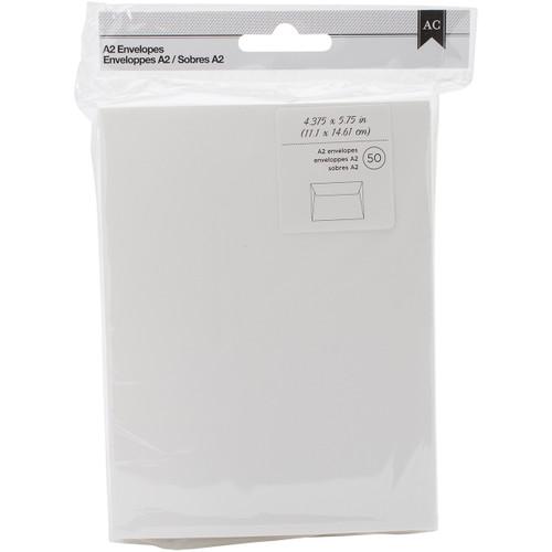 "American Crafts A2 Envelopes (4.375""X5.75"") 50/Pkg-Ivory -368578 - 718813685788"