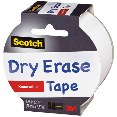 """Scotch Dry-Erase Tape 1.88""""X5yd-White -1905R-DE - 051141399225"""