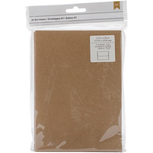 "American Crafts A7 Envelopes (5.25""X7.25"") 25/Pkg-Kraft -368591 - 718813685917"