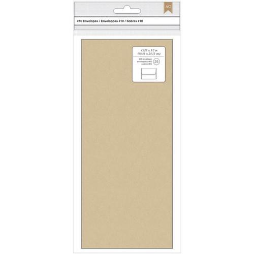 "American Crafts #10 Envelopes (4.125""X9.5"") 25/Pkg-Kraft -368589"