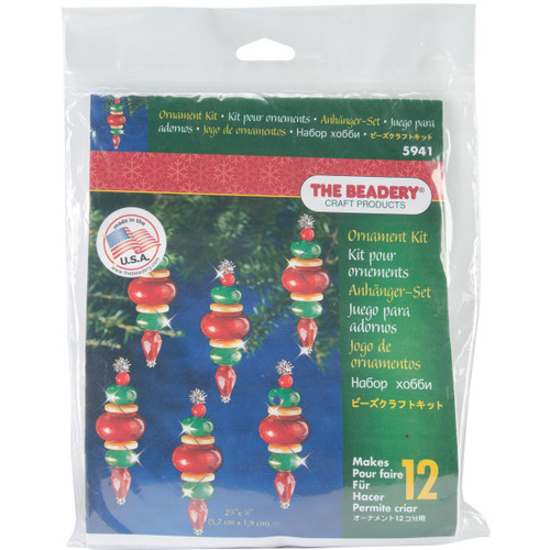 """Holiday Beaded Ornament Kit-Victorian Baubles 2.25""""X.75"""" Makes 12 -BOK-5941 - 045155917476"""