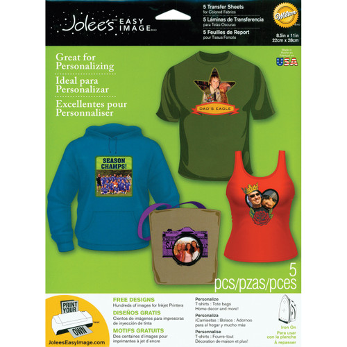 """Jolee's Easy Image Transfer Sheets 8.5""""X11"""" 5/Pkg-For Dark Fabrics -56-47008 - 015586944006"""