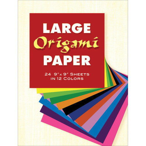 """Large Origami Paper 9""""X9"""" 24/Pkg-Assorted Colors -272958 - 8007592729529780486272955"""