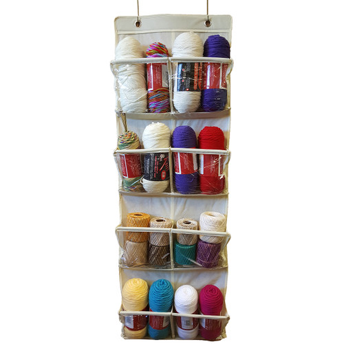 Innovative Home Creations Over The Door Storage/Organizer-White -1200