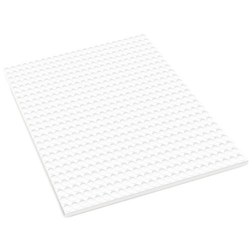 """MultiCraft 3D Pop Dots Dual-Adhesive Micro Foam Adhesives-White Round, .2"""" 576/Pkg -PD101"""