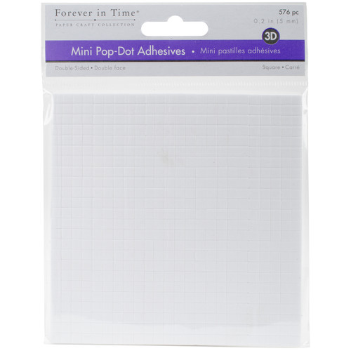 """MultiCraft 3D Pop Dots Dual-Adhesive Micro Foam Adhesives-White Square, .2"""" 576/Pkg -PD107 - 775749205329"""