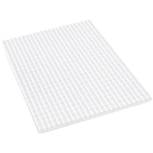 """MultiCraft 3D Pop Dots Dual-Adhesive Micro Foam Adhesives-White Square, .2"""" 576/Pkg -PD107"""