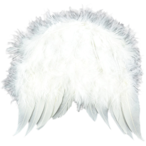 """Feather Angel Wings 6""""X5.5""""-White -MD10913"""