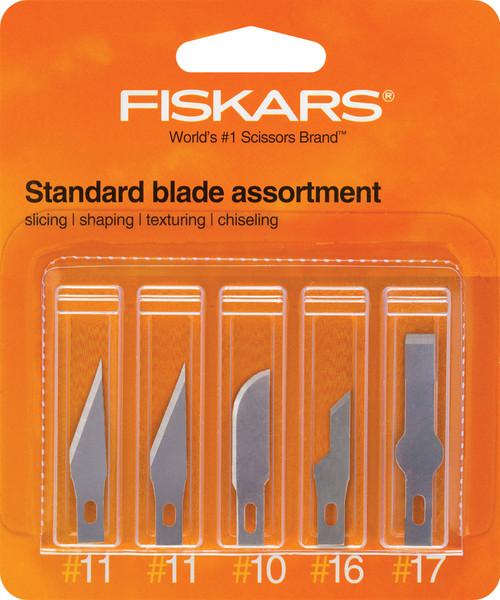 Fiskars Standard Blade Assortment 5/Pkg-41901001 - 020335056923
