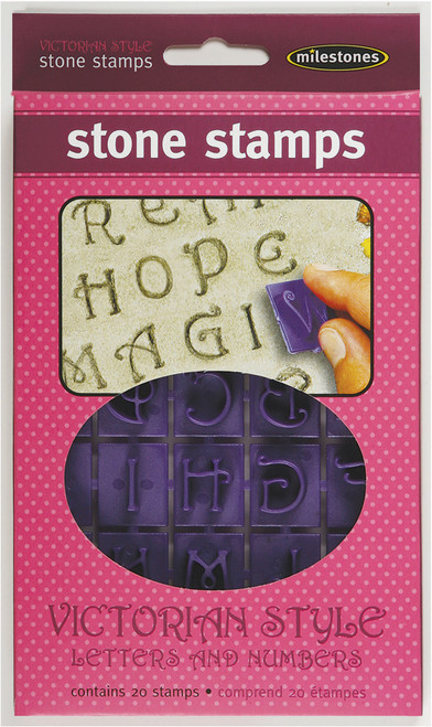 Stone Stamps-Victorian Style Letters & Numbers -905-20-511 - 601950205110