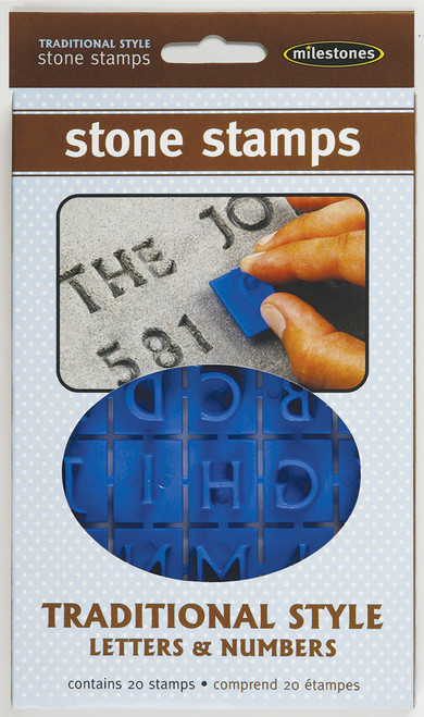 Stone Stamps-Traditional Style Letters & Numbers -905-20-510 - 601950205103