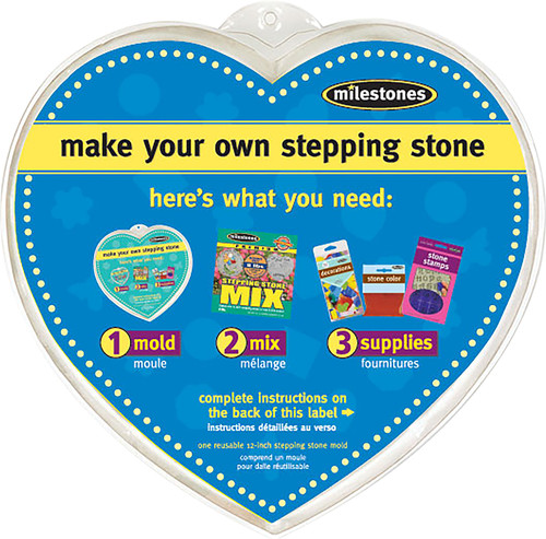 """Stepping Stone Mold-Heart 12"""" -90723123 - 601950231232"""