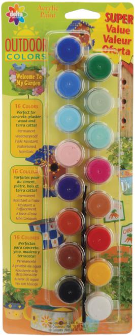 Acrylic Paint Pots 16/Pkg-Outdoor -27050056 - 017158027056