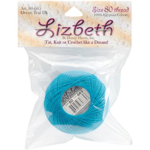 Handy Hands Lizbeth Cordonnet Cotton Size 80-Ocean Teal Dark -HH80-665 - 769826806653