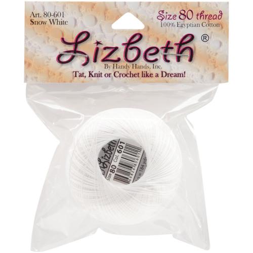 Handy Hands Lizbeth Cordonnet Cotton Size 80-White -HH80-601 - 769826806011