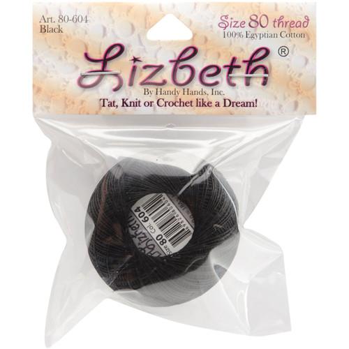 Handy Hands Lizbeth Cordonnet Cotton Size 80-Black -HH80-604 - 769826806042