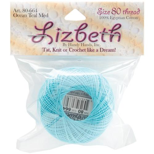 Handy Hands Lizbeth Cordonnet Cotton Size 80-Ocean Teal Medium -HH80-664 - 769826806646