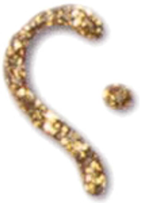 Fashion Dimensional Fabric Paint 1.1oz-Glitter Gold -FF25403-0000 - 028995254031