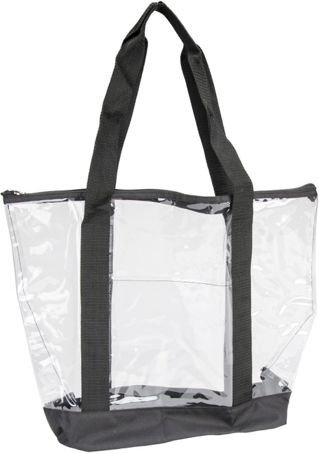 """Innovative Home Creations All-Purpose Clear Tote Bag-Black 19""""X14""""X6"""" -I1570"""