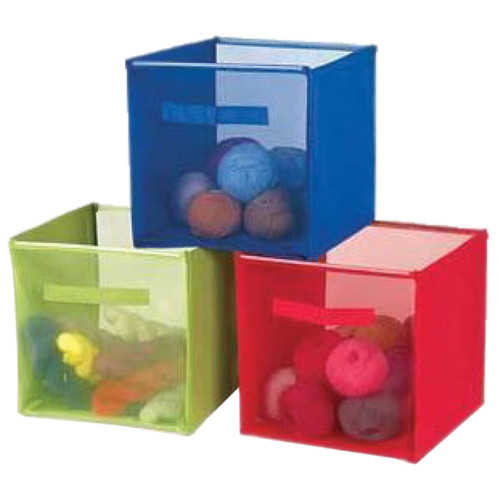 """Innovative Home Creations Yarn & Craft Storage Cube -Lime Green 12""""X12""""X12"""" -4870-LIME"""