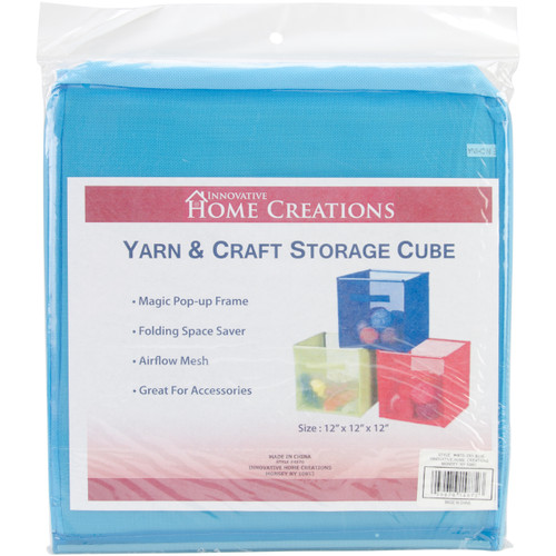"Innovative Home Creations Yarn & Craft Storage Cube -Sky Blue 12""X12""X12"" -4870-SKY - 039676148723"