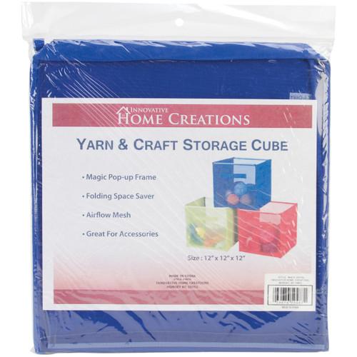 "Innovative Home Creations Yarn & Craft Storage Cube -Royal 12""X12""X12"" -4870-ROYAL - 039676504871"