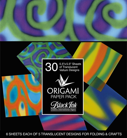 Origami Paper Pack-Funky Vellum 30 Sheets -OP-304 - 722559304018