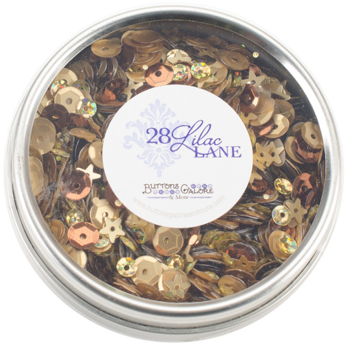 28 Lilac Lane Tin W/Sequins 40g-Not So Heavy Metal -LL312 - 840934000581