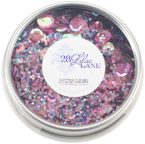 28 Lilac Lane Tin W/Sequins 40g-Mixed Berry -LL313 - 840934000598
