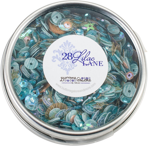 28 Lilac Lane Tin W/Sequins 40g-Seaside Holiday -LL315 - 840934000611
