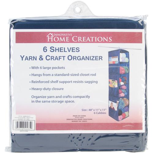 "Innovative Home Creations 6 Shelf Yarn & Craft Organizer -Navy 48""X11""X11"" -4850-NAVY - 039676104859"