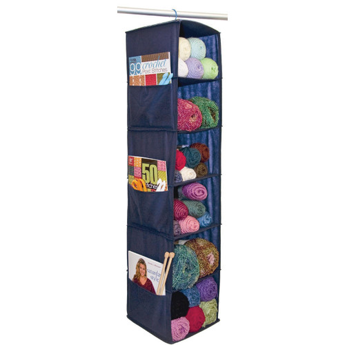 "Innovative Home Creations 6 Shelf Yarn & Craft Organizer -Navy 48""X11""X11"" -4850-NAVY"